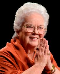 Sri Mrinalini Mata, hands in prayer