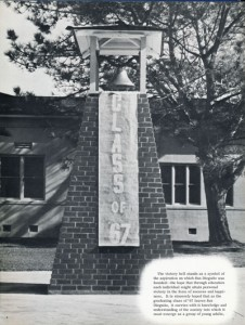 The bell tower in 1967