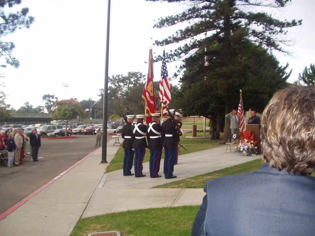Color Guard Approaching Memorial