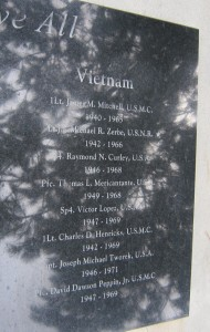 Vietnam War Names