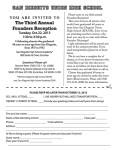 Founders Reception invitation