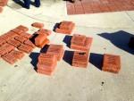 Piles of bricks
