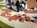 Bricks on the ground