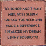 To Honor and Thank Mrs. Rose Sleigh