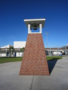 Rebuilt bell tower