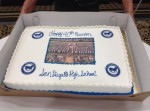 Cake with photo of 1975 commencement