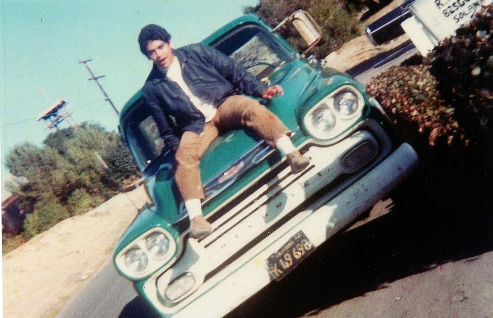 Armando on vehicle