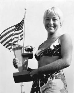 Linda Benson with trophy