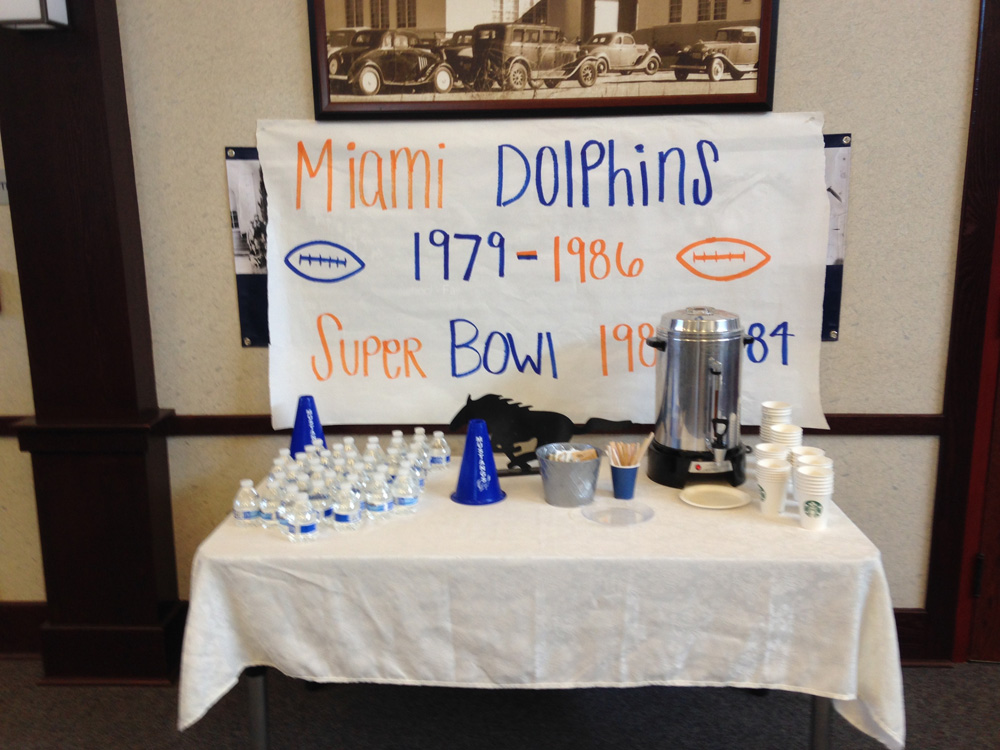 Sign says Miami Dolphins