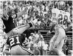 News photo showing Tom Dempsey kicking the field goal