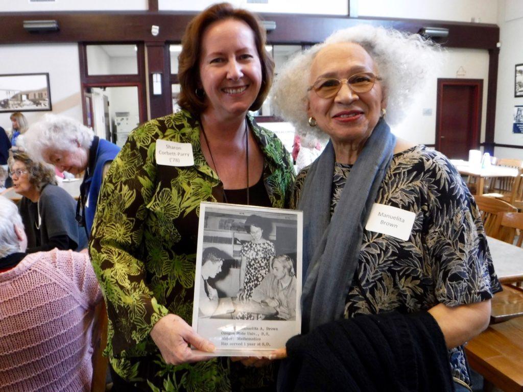 Sharon Corbett-Parry ('78) and Manuelita Brown