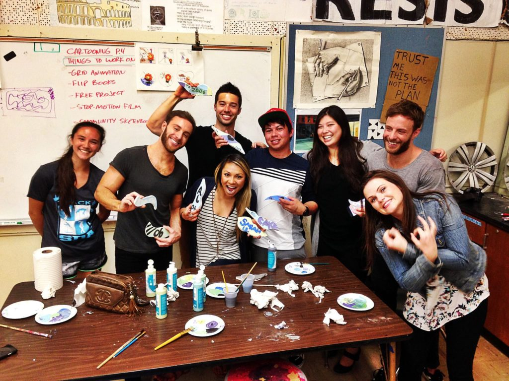 Alumni at our tile-making event