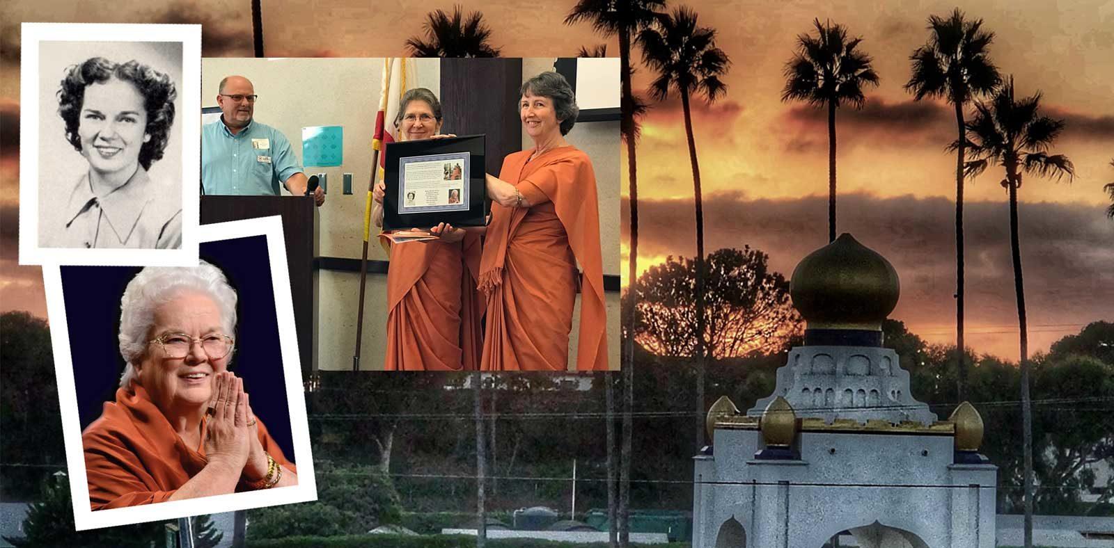 San Dieguito inducts Merna Brown ('49) AKA Sri Mrinalini Mata into the Hall of Fame