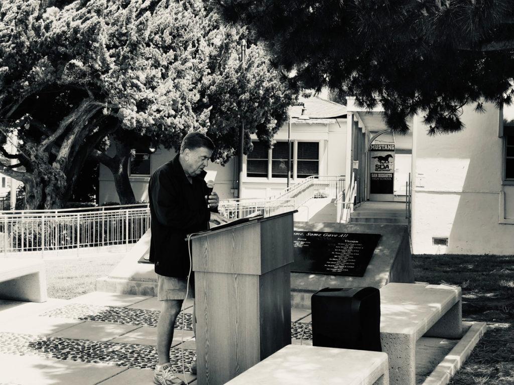 Robert Plumbley at lectern