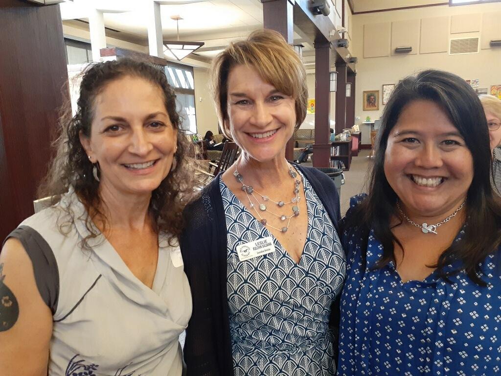 Monica on left Leslie in middle Nanette on right