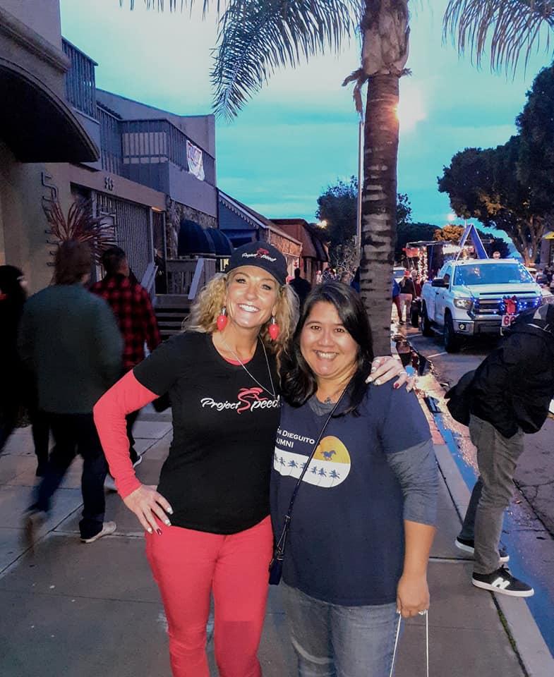 Denise on the left, Nanette on the right