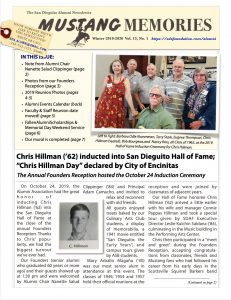 front page of the Alumni Newsletter
