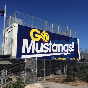 Go Mustangs Water Polo Banner
